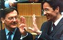 Wolfgang Schüssel und Karl-Heinz Grasser im Parlament