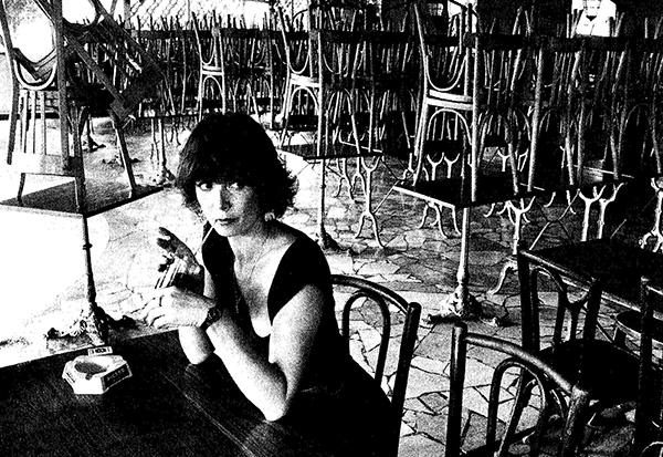 Freiwilliges Alleinsein oder Einsamkeit?  Ein bloßes Foto gibt darauf keine Antwort. Sabine Azema, privat 1985