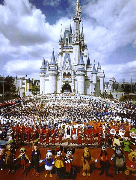 Disney Schloss und Mitarbeiter Foto