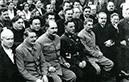 Stalin und Mitkämpfer 1936 in Moskau (Kongress)