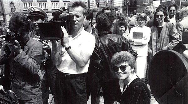 Wiener Szene mit Kulturstadträtin (Ursula Pasterk), 1986